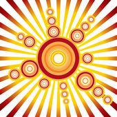 Retro solen. vektor bakgrund — Stockvektor