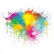Abstract Colorful Splashes. Vector Background - Stock Vector