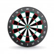 Darts Board Vector Image Isolated on White. — Stock Vector