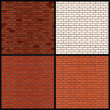 Brick Wall Variants. Seamless Vector Patterns - Stock Vector