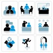 Management and Business Icons. Vector Set - Stock Vector