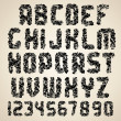 Dirty Vector Font. Grunge Letters and Numbers - Imagen vectorial