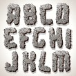 Alphabet Letter Made from Old Cracked Stone Vector - Vektorgrafik