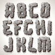 Alphabet Letter Made from Old Cracked Stone Vector - Imagen vectorial