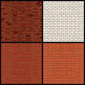 Brick Wall Variants. Seamless Vector Patterns — Stock Vector