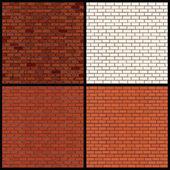 Variantes de parede de tijolo. padrões de vetores sem emenda — Vetor de Stock