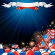 Stock Photo: Fourth of July illustration