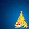Background with Christmas Tree - Stok fotoraf