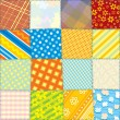 Seamless Quilt Fabric Texture — Stockfoto