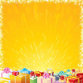 Festive background with Motley Gift Boxes — Stock Photo
