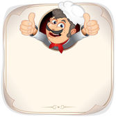 Chef Cook Showing Thumb Up — Stock Photo