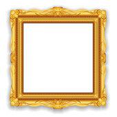 黄金复古框架 — 图库照片