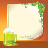 Green Ale. Patrick's Day Poster Template — Stock Photo