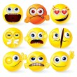 Cartoon Yellow Smileys — Stock Photo