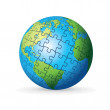 Puzzle Earth Globe — Stock Photo