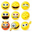 Stock Photo: Cartoon Yellow Smileys