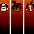 Stock Photo: Halloween vertical banners