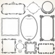 Ornamental Frames. Design Elements - Stock Photo