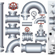 Industrial Conduit and Pipelines Parts - Foto de Stock