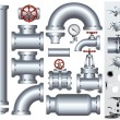 Industrial Conduit and Pipelines Parts - Stockfoto