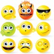 Cartoon Yellow Smileys - Stockfoto