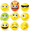 Cartoon Yellow Smileys — Stock Photo #23348378
