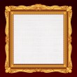 Antique Gold Frame with Blank Canvas. — Stock Photo #23348386