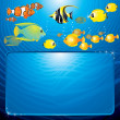 Sea Life Scene. Illustartion with Copyspace - Stock Photo