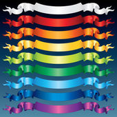 Multicolored Shiny Ribbons. — Stock Photo