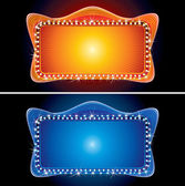 Retro Theater Marquee with Spotlight — Stock Photo