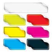 Tasarımınız için renkli çıkartmaları kümesi — Stok fotoğraf