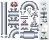 Pièces industrielles de conduits et canalisations — Photo