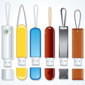 Usb Sticks. Flash Memory Drive Collection. — Stock Photo