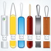 Usb Sticks. Flash Memory Drive Collection. — Stock Photo