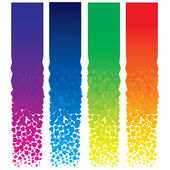 Set of Colorful Decorative Vertical Banners — Stock Photo