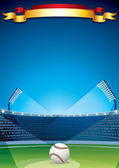 Baseball Stadium. Vector Poster Design — Stock Vector