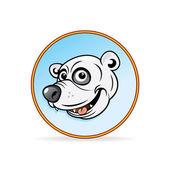 北极熊头的卡通插图. — 图库矢量图片