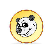 Cartoon Illustration of a Panda Bear Head. — Stock Vector