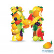 Royalty-Free Stock Imagem Vetorial: Vector Alphabet From Fruit. Letter M