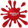 Red Paint Splash. Vector Illustration - Stock Vector