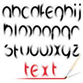 Brush Alphabet. Vector Design Font — Stock Vector