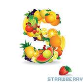 вектор алфавит из фруктов. письмо s — Cтоковый вектор