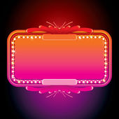 Illustration of Pink Retro Marquee. Vector Image — Stock Vector