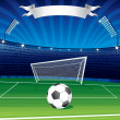 Football Champions League Poster — Stock Photo