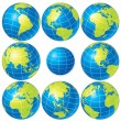 Globe Set - Stock Photo