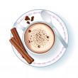 Cup with Cappuccino Illustration - Stock Photo