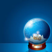Glass Snow Globe — Stock Photo