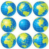 Globe Set — Stock Photo