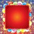 Royalty-Free Stock Vector Image: Festive Background with Balloons and Firework