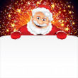 Santa Claus Greeting Card — Stock Photo